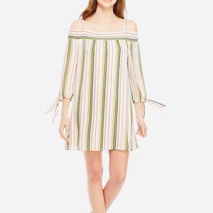 As U Wish Cold Shoulder Striped Tunic/Dress NWT